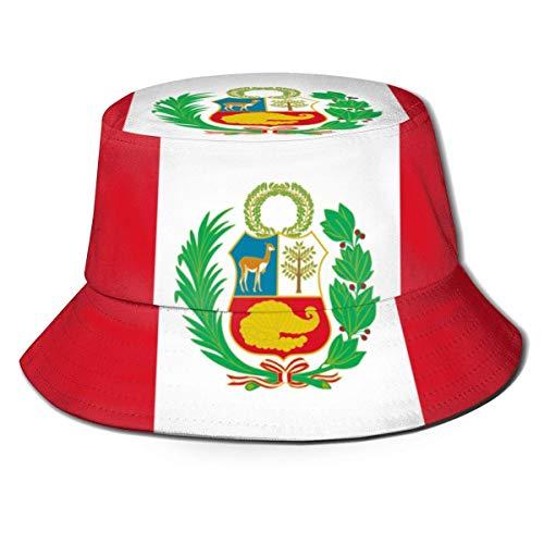 Bandera de Perú Hombres Sombreros de Pescador para Mujer Sombrero de Boonie...