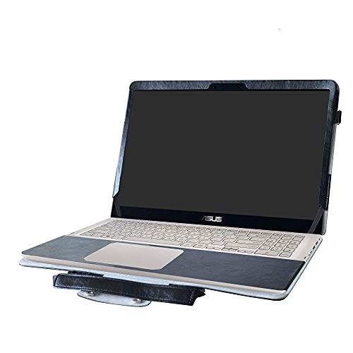 ASUS Q505UA Q525UA Q535UD Case,2 in 1 Accurately Designed Protective PU Cover + Portable Carrying Bag For 15.6' ASUS Q505UA Q525UA Q535UD Series Laptop,Black