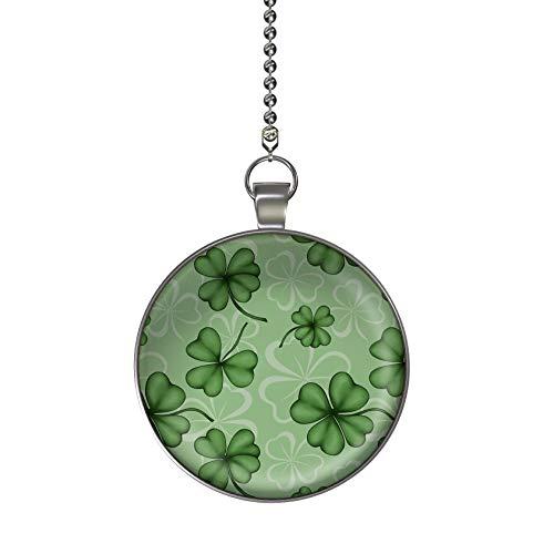 Saint Patrick's Green Shamrocks Ceiling Fan and Light Pull Chain Pendant