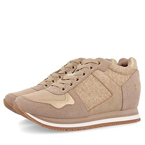 Sneakers básicos Dorados con cuña Interior para Mujer Nassau