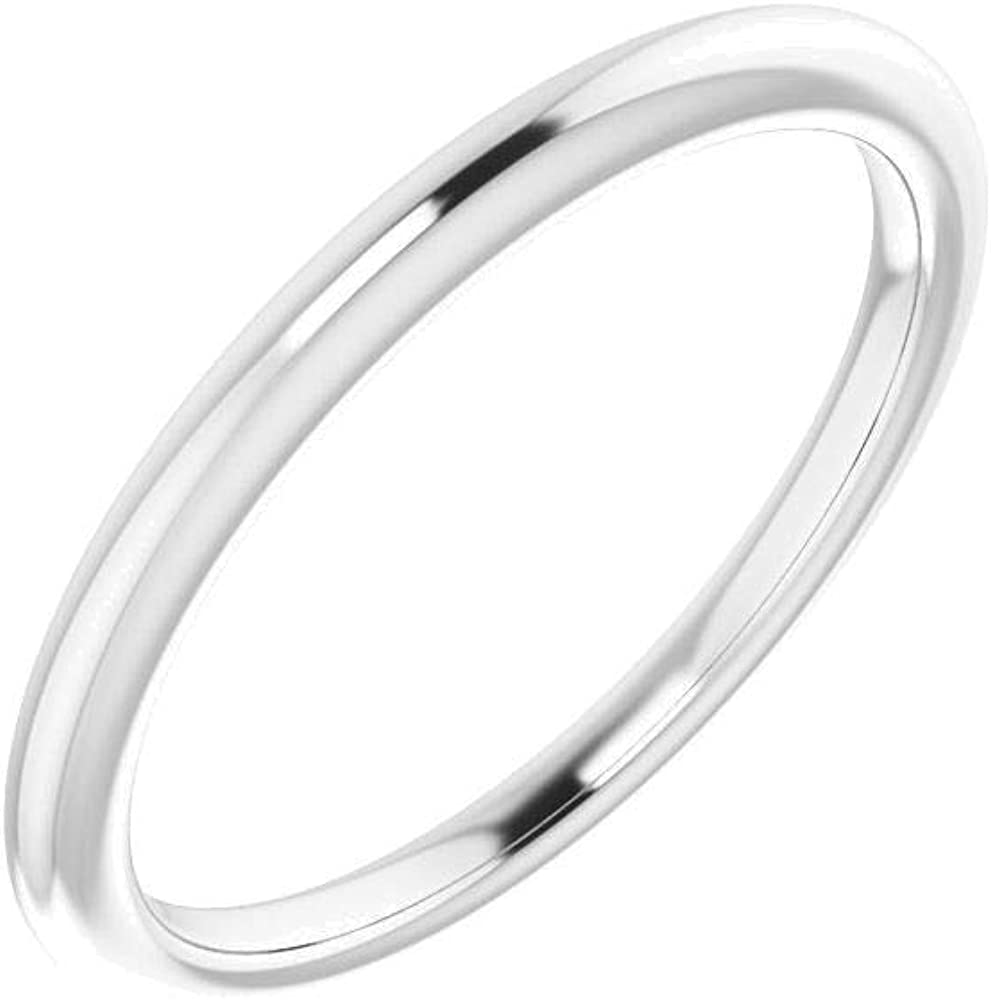14kt Super sale White Gold 4mm Animer and price revision Square Band Size Wedding 7 in