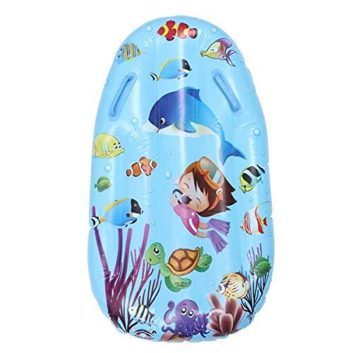 SGerste - Tabla de surf hinchable para niños con doble asa para piscina, playa, surf, juguetes, color azul