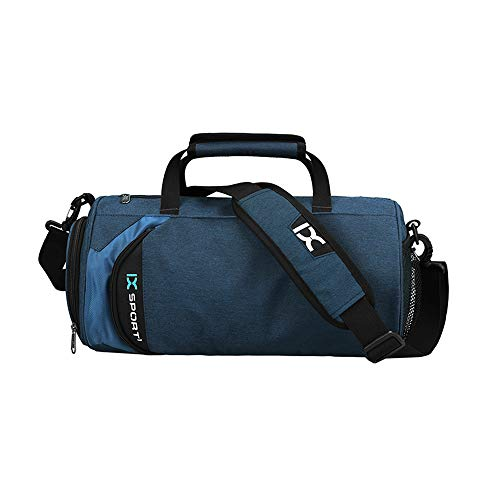 Mettime Bolsa de viaje multifunción de gran capacidad, para yoga, danza, natación, gimnasio, para llevar al hombro, color azul