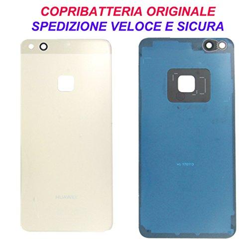 Scocca Copribatteria Back Cover Copri Batteria Posteriore Originale Huawei P10 Lite Gold Oro con...