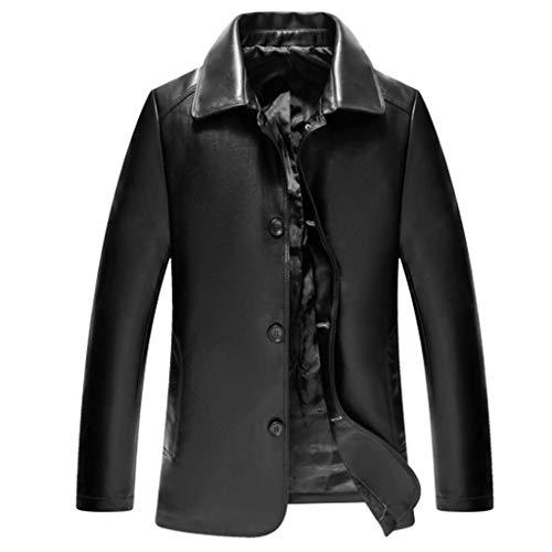 1-1 Heren Slim-Fit Blazer lederen jas voor mannen van de motorfiets casual mantel zwart motorfiets lederen jas waterdicht bovenstuk