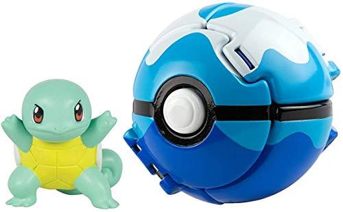 XINPING Pokémon Throw 'N' Pop Pokéball, 5 cm Figur Throw 'N' Pop… (Jenny Turtle)