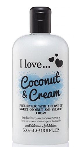 I Love... Coconut & Cream Bubble Bath And Shower Creme 500ml