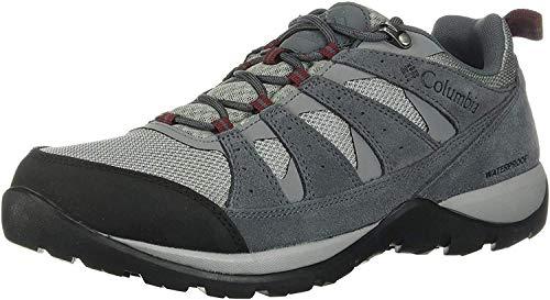 Columbia Redmond V2, Zapatos de Senderismo Impermeables para Hombre, Gris (Monument, Red J 036), 44 EU