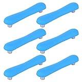 GODNECE, 6 maniglie per cassetti per bambini, 96 mm, per mobili della cameretta dei bambini, set di maniglie per mobili da cucina, camera da letto, ecc. (blu)