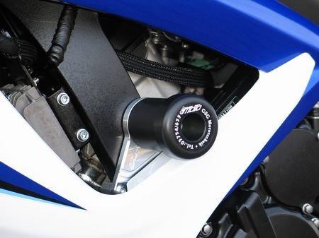 Satz GSG Moto Sturzpads Suzuki GSX-R 600/750 06-07 (K6+K7) sw. eloxiert