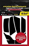 Yellow Bear Easy réplica Scorpion ExoTM - Kit de 6 pegatinas reflectantes para casco de moto, 3MTM Technology (1)