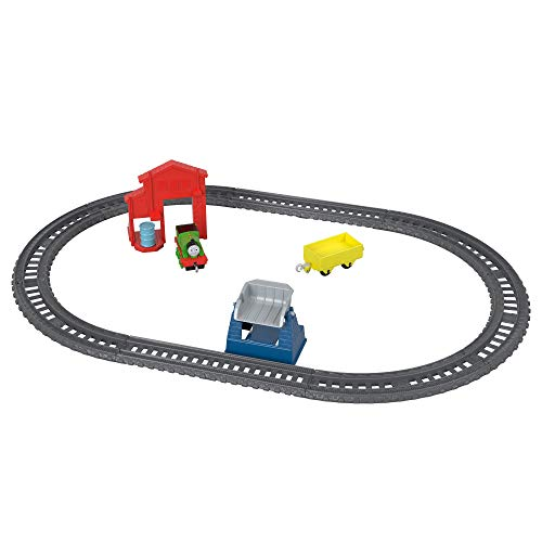 Thomas & Friends GFJ77 Trackmaster Push-Along Percy\'s Barrel Drop, Metall-Zugmotor-Spielset, Mehrfarbig