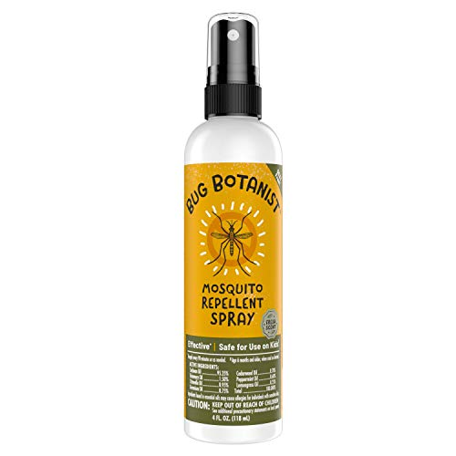 BUG BOTANIST Mosquito Repellent Spritz (4OZ) Bug Spray with Naturally-Derived Ingredients, DEET-Free, Family-Friendly, Pet-Friendly, Powered by Plants, Made with Essential Oils