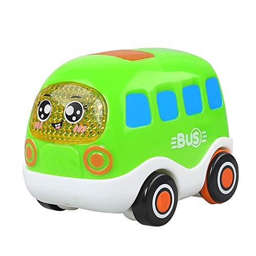 Naisicatar Push and Go Pull Back Fahrzeuge Friction Powered Cars Inertial Spielzeug Pflege für Kleinkinder Kinder (Bus) Geschenk für den Winter