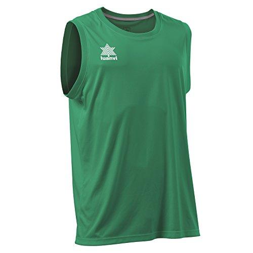 Luanvi Basket Pol Camiseta Deportiva sin Mangas, Hombre, Verde, L