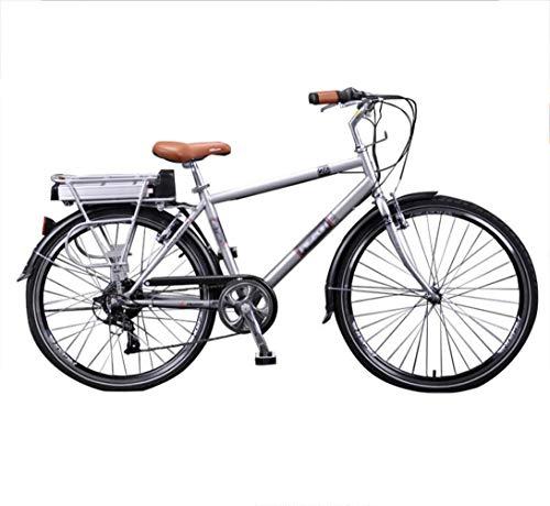 Bicicleta eléctrica Bicicleta asistida por energía Viga Masculina y Femenina Coche de batería de 26 Pulgadas para Transporte de Ancianos Bicicleta eléctrica de Litio Ligera y Segura Motor único