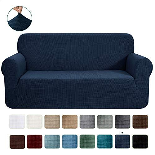 CHUN YI 1-Stück Jacquard Sofaüberwurf, Sofaüberzug, Sofahusse, Sofabezug für Sofa, Couch, Sessel, mehrere Farben (3 Sitzer, Blau)