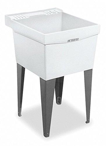 Mustee Floor-Mount Utility Sink, 1 Bowl, White, 24'L x 20'W x 34'H