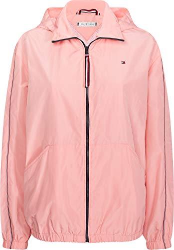 Tommy Hilfiger Damen Cory Funnel Packable Windbreaker Jacke, Pink (Pink Grapefruit Th8), 34 (Herstellergröße: Small)