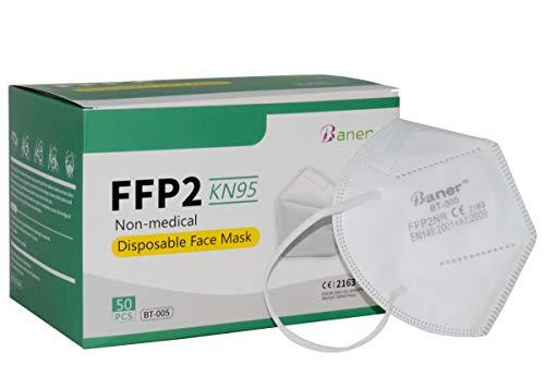 Baner FFP2 Atemschutzmasken in weiß als Mund und Nasenschutz (5)