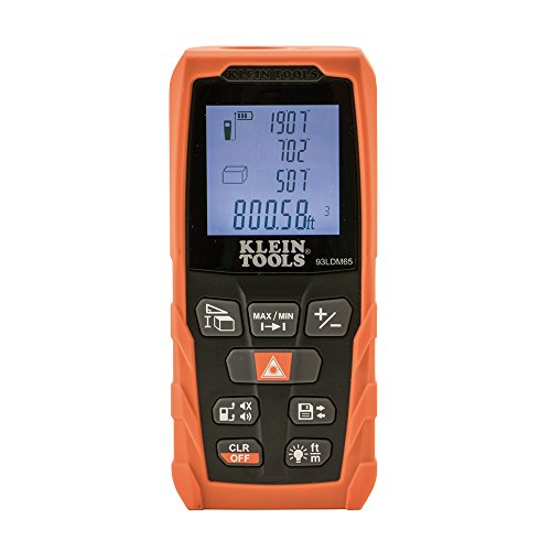 Klein Tools 93LDM65 Laser Distance Measure 98-Foot, Digital Backlit LCD,...