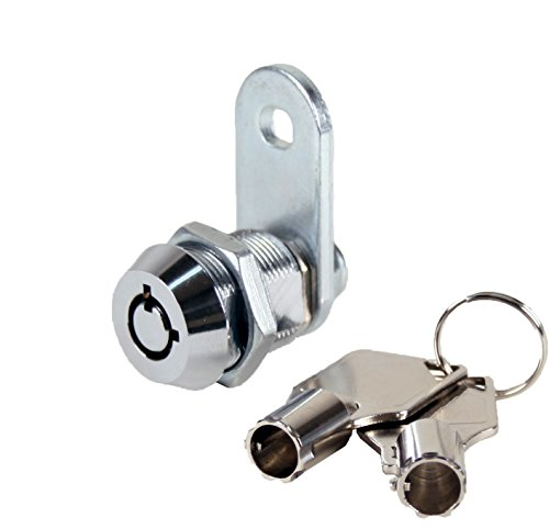 "FJM Security 2400AS-KA Tubular Cam Lock with 5/8"" Cylinder and Chrome Finish, Keyed Alike - 20 PK"