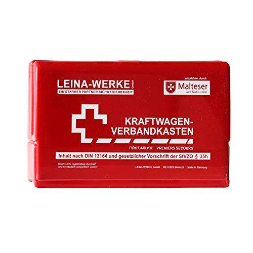 Leina-Werke 10050 KFZ-Verbandkasten Leina-Star II, Rot/Weiß