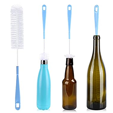 16 Inch Long Bottle Cleaning Brush for Beer Bottle - Water Bottle Cleaner for Washing Beer Wine Decanter Narrow Neck Thermos Kombucha Hydroflask S'well Sport Bottles and Jugs