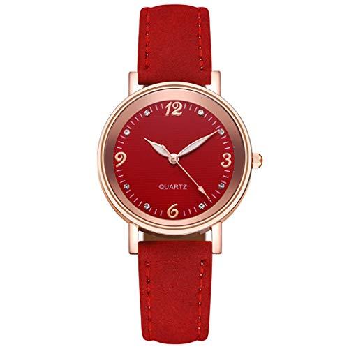 Fenverk Damen Analog Quarz Uhr Mit Lederarmband,Damenuhr,Uhren Damen,Uhr Gold,Kapten and Son Uhren,Warehouse Deal,Damenuhr Rosegold(D#01)