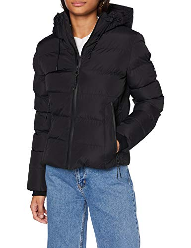 Superdry Womens Spirit Sports Puffer Jacket, Black, S (Herstellergröße:10)