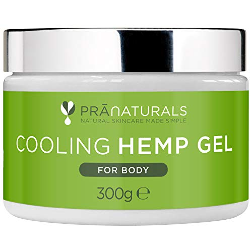 PraNaturals Cooling Hemp Gel 300g – Natural Formula enriched with Hemp Seed Oil, Camphor, Dead Sea Salt, Menthol and Rosemary Oil, Helps to Ease Muscles and Joint discomfort, Vegan and Cruelty Free