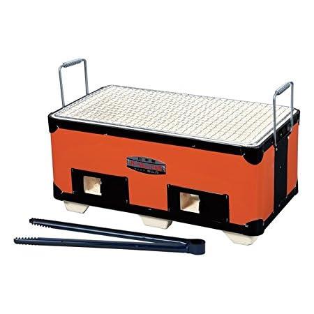 キンカ 角型コンロ(七輪)B4☆W375 アウトドアでのバーベキューに最適!炭火で美味しさUP
