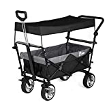 Best Folding Wagons - Sekey Foldable handcart with roof, folding wagon, outdoor Review