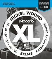 【 並行輸入品 】 D'Addario (ダダリオ) EXL148 Nickel Wound エレキギター 弦, Extra-Heavy, 12-60
