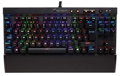 Corsair K65 Rapidfire Mechanische Gaming Tastatur (Cherry MX Speed: Schnell und Hochpräzise, Multi-Color RGB Beleuchtung, Qwertz) schwarz