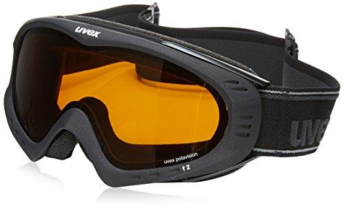 Uvex F 2 pola Skibrille, Black Met Mat, One Size