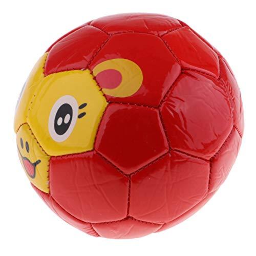 lahomia Bola del PVC Pelota de Playa de La Pelota de Playa del Agua de La Bola del Partido de Los Animales del Fútbol de 5.5 Pulgadas - Rojo