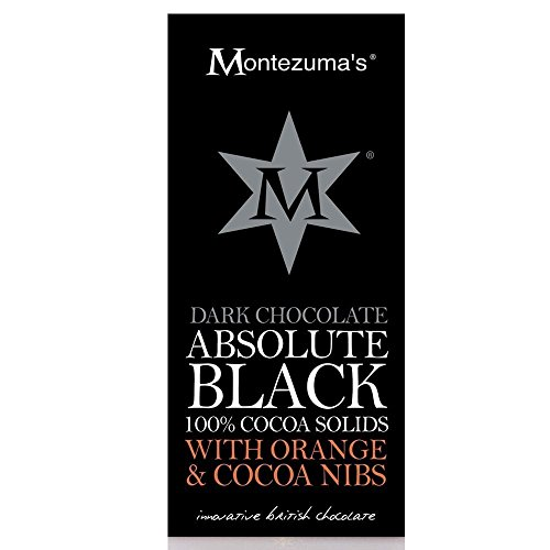 Montezumas Dark Chocolate Absolute Black with Orange and Cocoa Nibs (6 Pack)