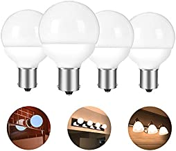 1156 1141 20-99 12 volt RV vanity led light bulbs BA15S 1383 1139 replacement for 5th wheel Camper trailer Motorhomes Marine boat bathroom 30-40W equivalent bright white 6000K pack of 4