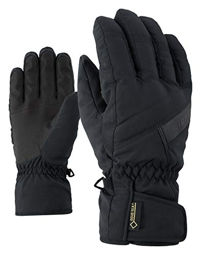 Ziener Erwachsene GAPON GTX Glove Alpine Ski-handschuhe/Wintersport | Wasserdicht, Atmungsaktiv, Black, 7,5