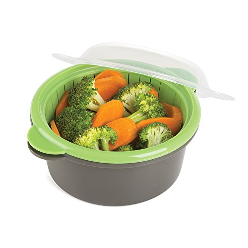 Progressive International Microwave Mini Steamer, Gray