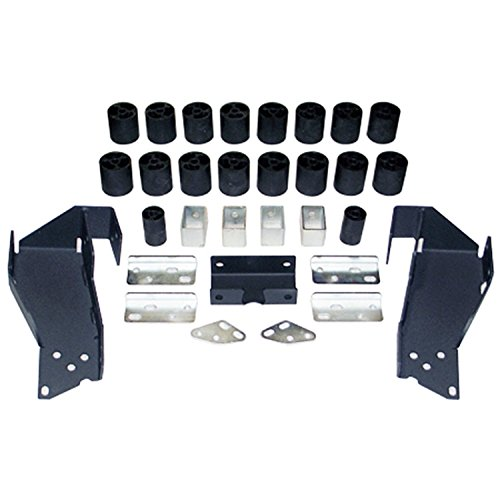 Daystar PA10193 Body Lift Kit; 3 in. Lift; Incl. Steering Extension; Front/Rear Bumper Brackets; Radiator Relocation Brackets; Blocks; All Required Hardware;