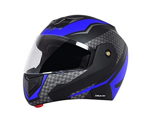 Vega Crux Flip Up Helmet,Medium(Black and Blue)