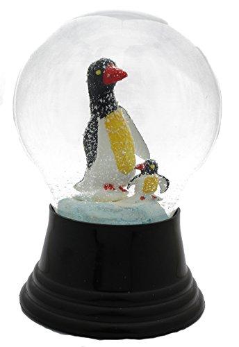Original Wiener Schneekugel / schneit wunderschön / Fast wie echter Schnee / Echtglaskugel 8cm /Motiv: Pinguin