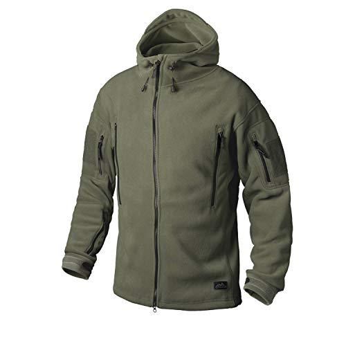 Helikon-Tex Patriot Jacke -Double Fleece- Olive Green, Oliv Grün, XL
