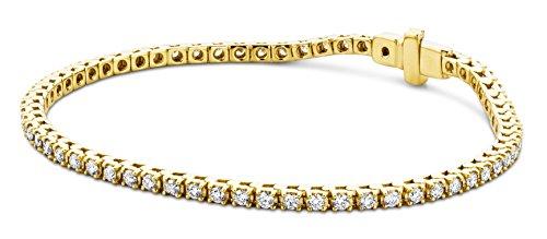 Miore Armband - Armreif Damen Tennis  Gelbgold 9 Karat / 375 Gold  Diamant Brillianten 2 ct  0 cm