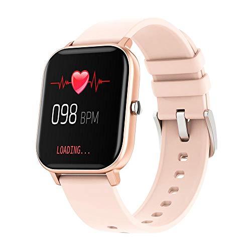 "Smartwatch Colmi P8 Inteligente Bluetooth, Tela 1,4"" HD 240x240 2.5D, Ipx7, Monitoramento Diversos (Rosa Ouro)"