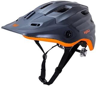 Kali Protectives Maya Helmet: Matte Gunmetal/Orange XS/SM