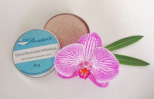 Gesichtsmaske Hibiskus - bei trockener bis empfindlicher Haut, vegan, ohne Palmöl und Konservierungsstoffe, Gesichtsmaske aus natürlichen Heilerden von kleine Auszeit Manufaktur
