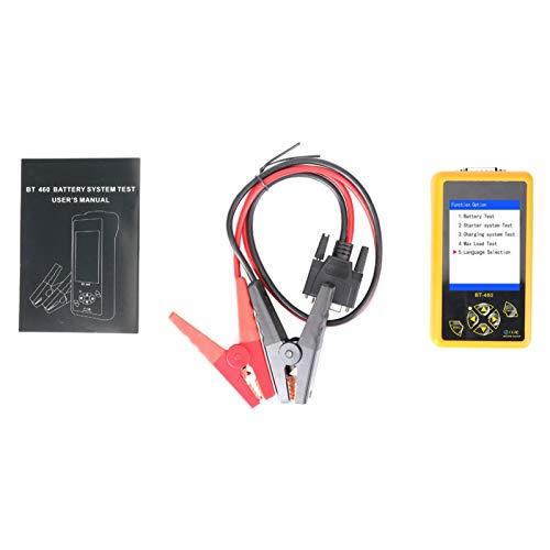 Probador de batería de automóvil Analizador de sistema de carga Medición de resistencia de capacidad Analizador de alternador Herramienta de escaneo de prueba de sistema de carga y arranque